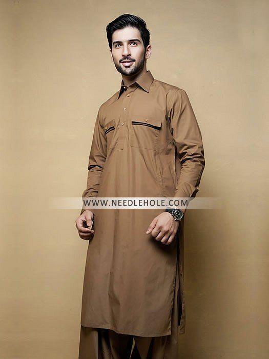 0983b411c8 Classic double pocket salwar kameez for men by amir adnan. Find latest  styles of men shalwar kameez online and traditional shalwar kamiz  collection for eid ...