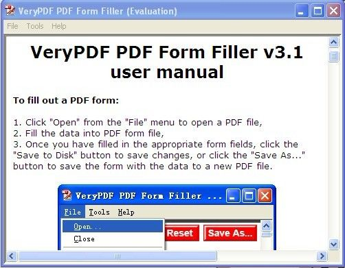 VeryPDF PDF Form Filler is developed for business users to fill ...