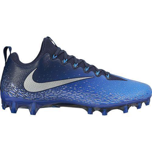 Nike Men's Vapor Untouchable Pro Football Cleats (Midnight Navy/Metallic  Silver/Photo Blue, Size 15) - Football Shoes at Academy Sports   Football  cleats, ...