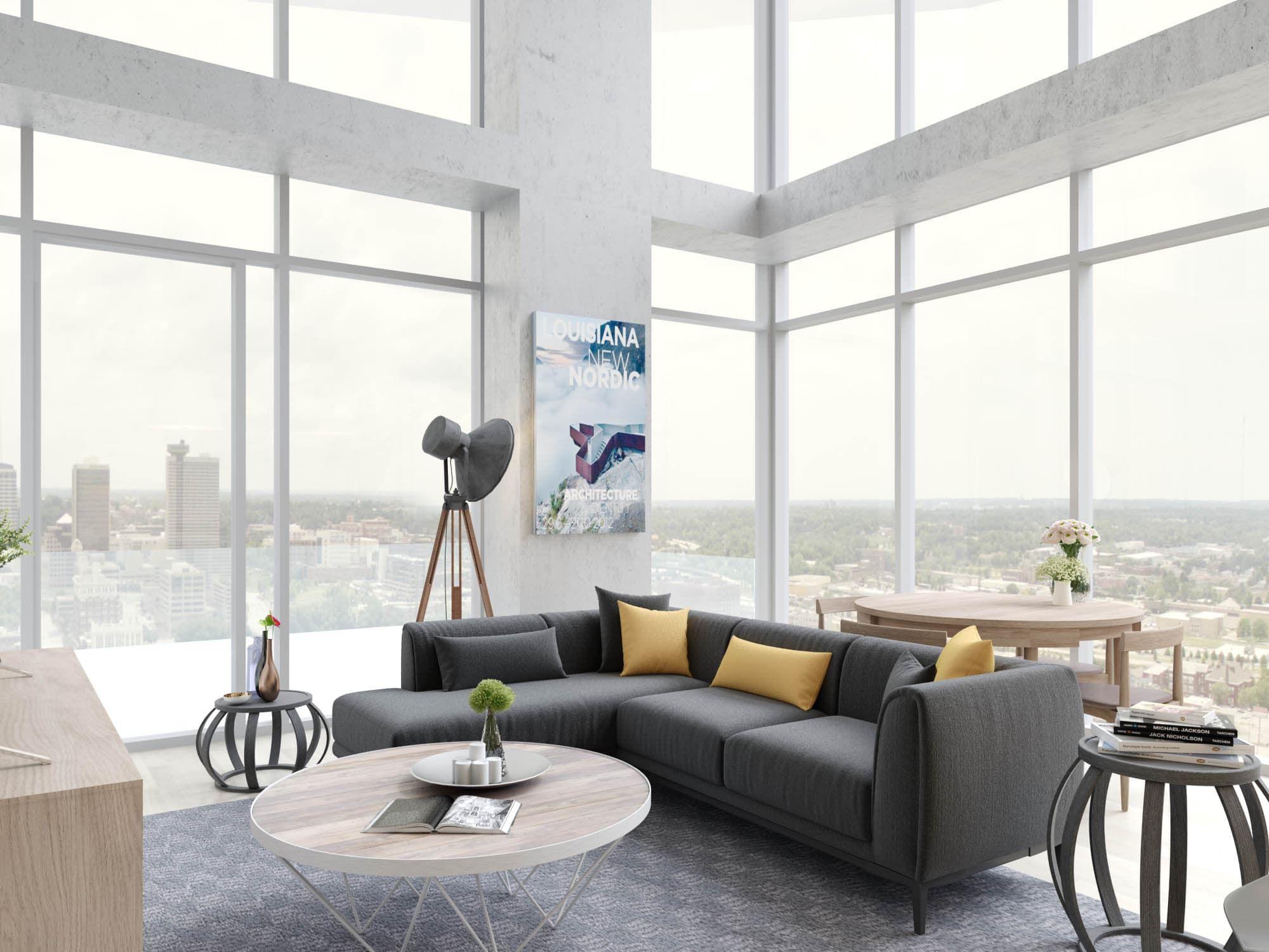 Penthouse Living Room Penthouse Living Room Luxury Apartments Downtown Apartment