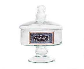 Barattolo alzata in vetro Antique - 14x17x14 cm