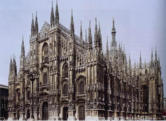 Duomo di milano italia 1386 1805 g tico lombardo for Casa di architettura gotica