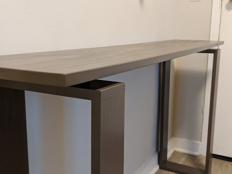 Simple Modern Hallway Table Floating Top Console Table Solid