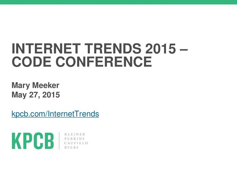 State of the 2015 mary meeker presentation