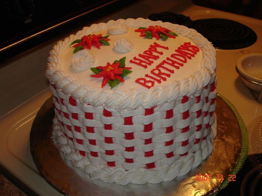 Snowflake Birthday Cake Cake For My Sister In Law S December