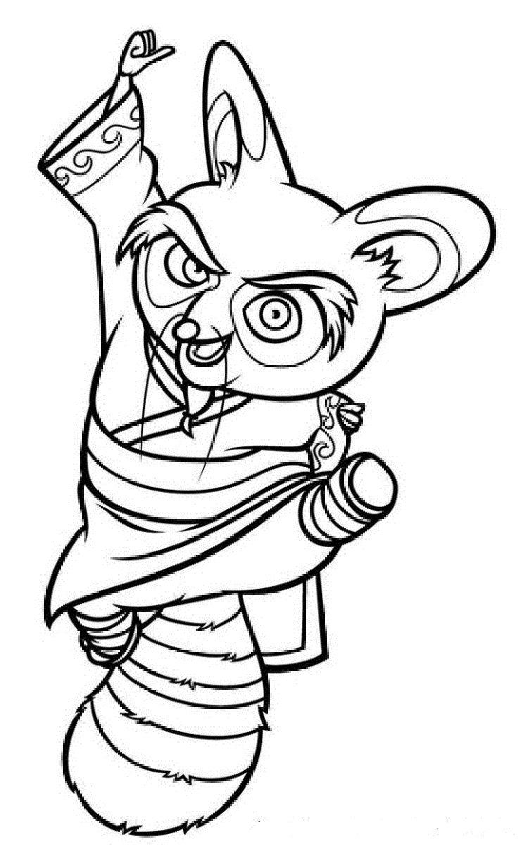 - Kung Fu Panda Master Shifu Coloring Pages Panda Coloring Pages