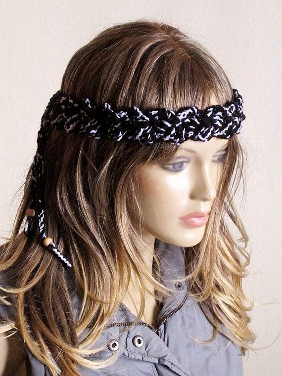 crochet headband hairband handmade boho headbands hair by selenayy ...