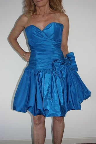Vintage 80s Prom Dress Formal Dress Cocktail Iconic 80s Strapless