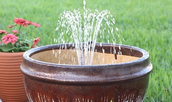14 DIY Container Water Fountain Ideas That Are Easy And Cheap is part of Cheap Container garden - If you love the sound of water and want to get an inexpensive water feature for your home or garden, try one of these DIY Container Water Fountain I