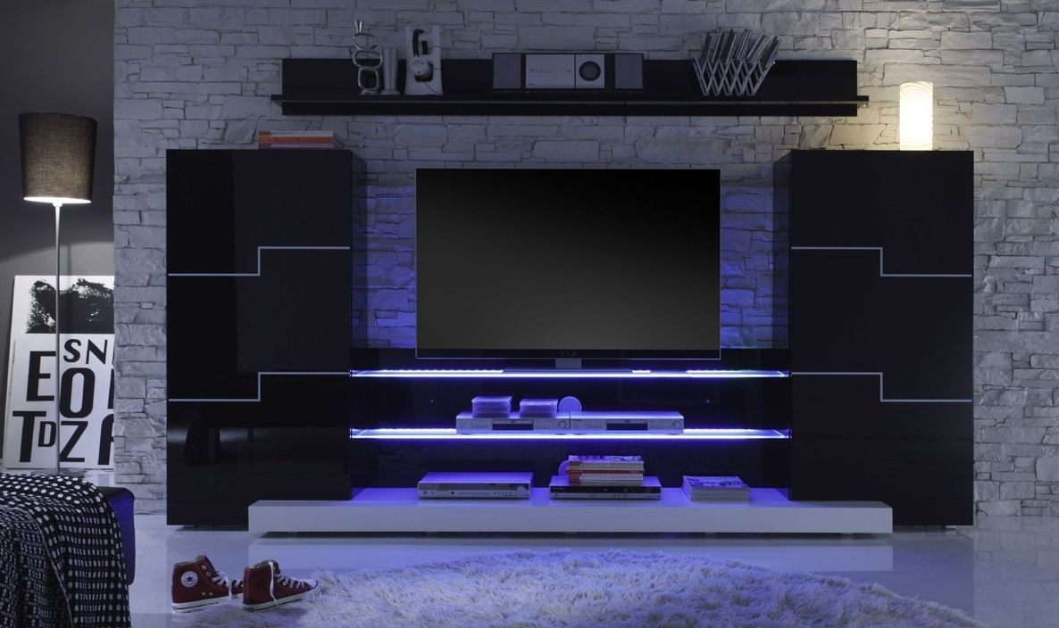 Gothic Tv Cabinet Touchs For Wall Unit Designs With Small
