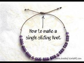 Photo of How to Make a Sliding Knot (single knot) – jewelry making tutorial