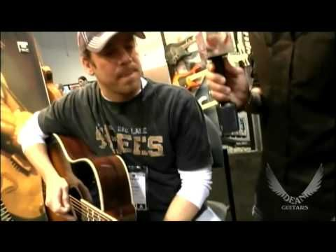 Video of Christian Kane with someone from Dean Guitar's at