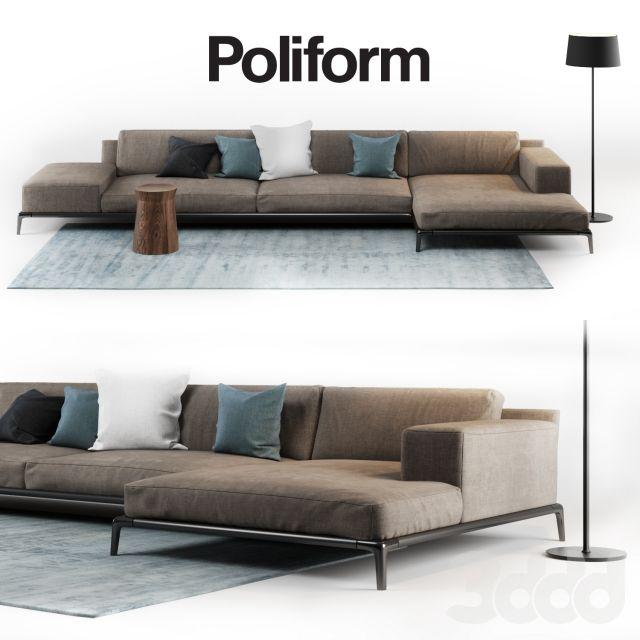 Poliform Park Furniture Showroom Sofa Living Room Design Sectional