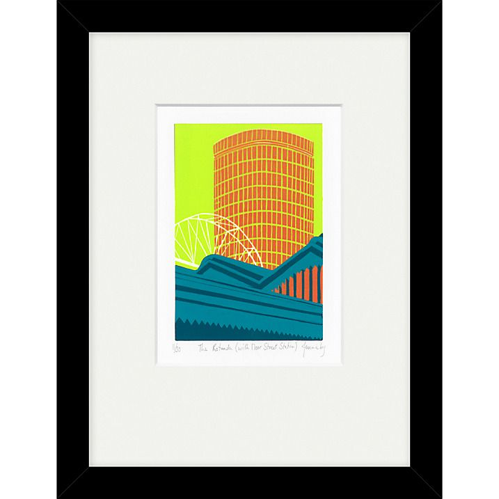 Jennie Ing The Rotunda With Moor Street Station Limited Edition Framed Print 34 X 44cm Online At Johnlewis
