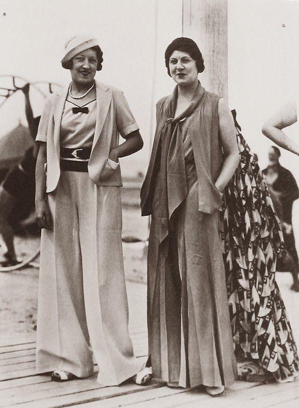 la curiosit du jeudi des femmes en pantalon mode des ann es 1930 1940. Black Bedroom Furniture Sets. Home Design Ideas