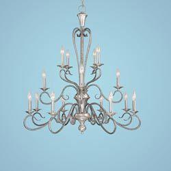 Devonshire Satin Nickel/Silvermist Sixteen-Light Chandelier