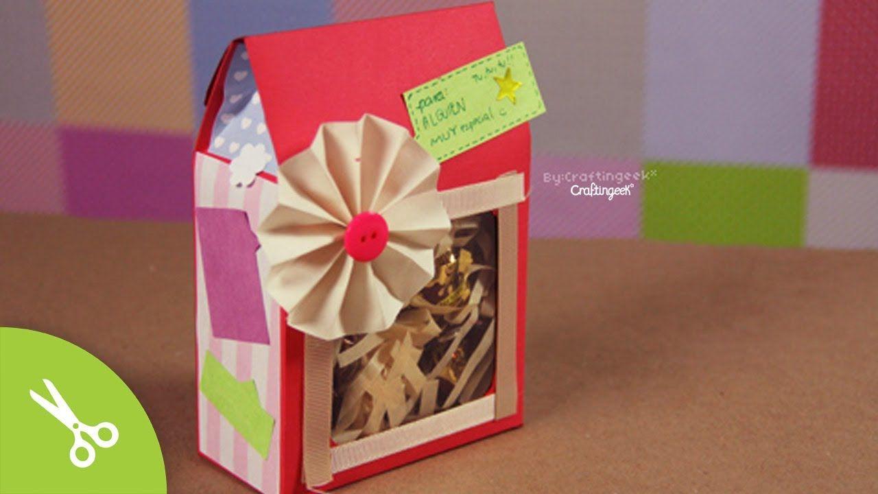 Cajita sorpresa: dulces y regalo - 14 de febrero // Gift Box DIY