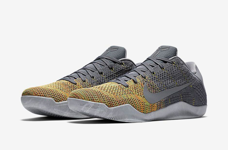 ccd33a96d8e5 Nike Kobe 11 Elite Cool Grey Voltage Green