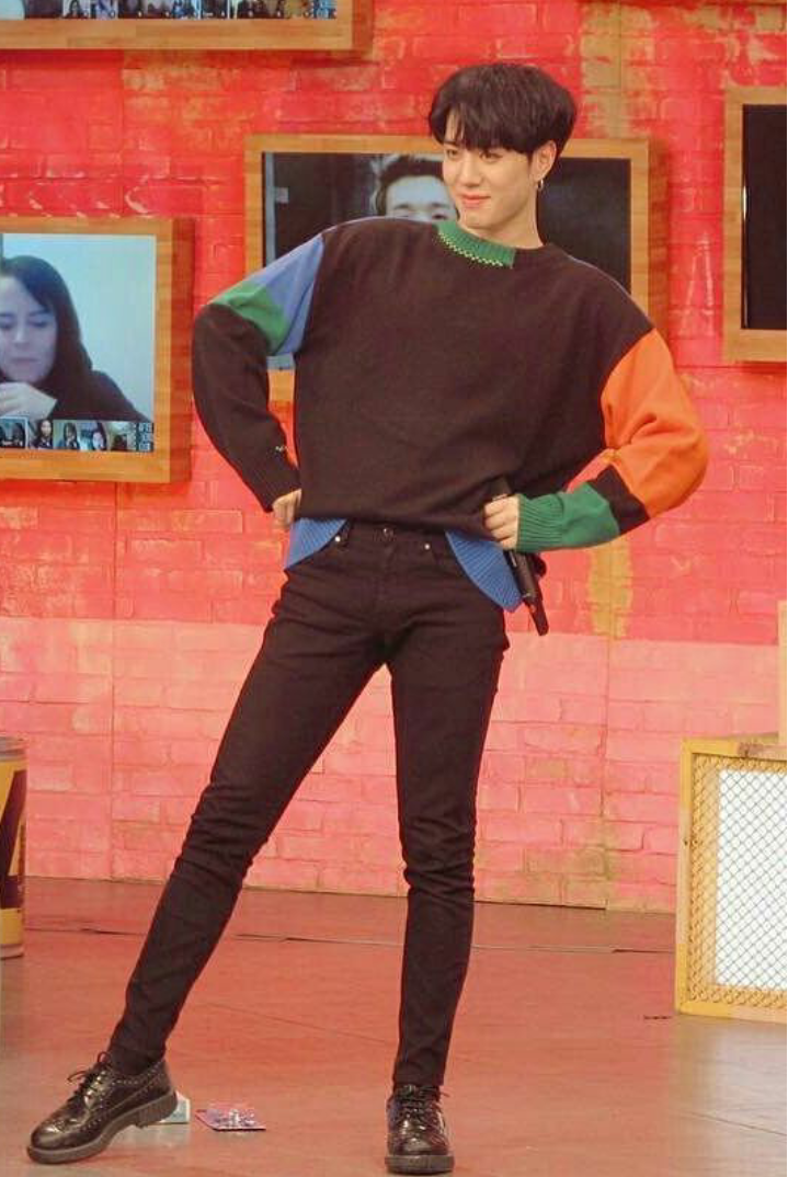 GOT7 Yugyeom's long leg