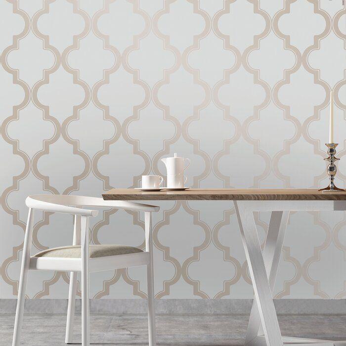 Gaston 33 L X 20 5 W Trellis Peel And Stick Wallpaper Roll Peel And Stick Wallpaper Removable Wallpaper Decor