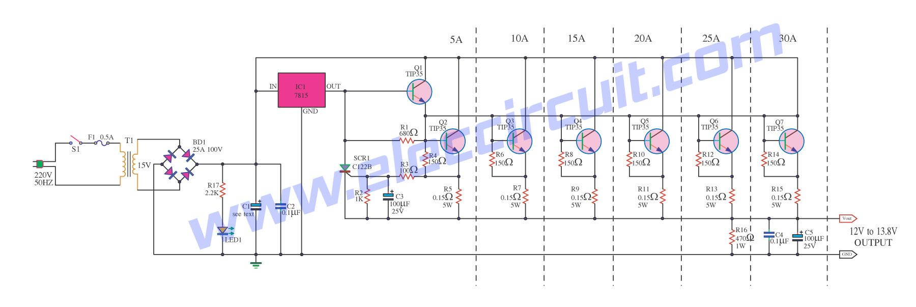 0 60v Dual Variable Power Supply Circuit By Lm317 Lm337 With