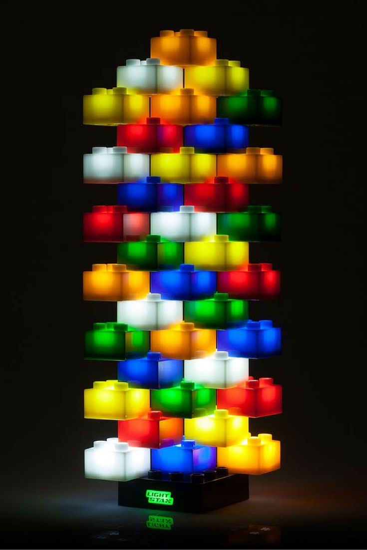 Light Stax 36 Piece Light-Up LED Building Blocks Set: This award winning toy comes with a battery or USB-powered base, USB cable, plus 36 light-up bricks. Addictively fun for kids, or a statement piece for the office.