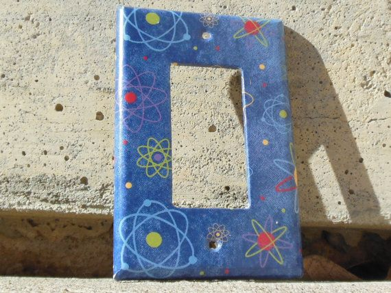 Science Atoms Rocker / Decora / Dimmer / GCFI Light Switch Plate Cover