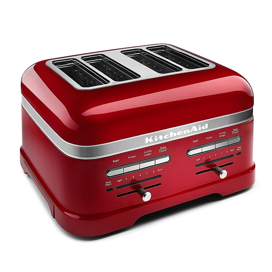 Kitchenaid Pro Line 4 Slice Toaster In Red Kitchen Aid Toaster Kitchenaid Pro