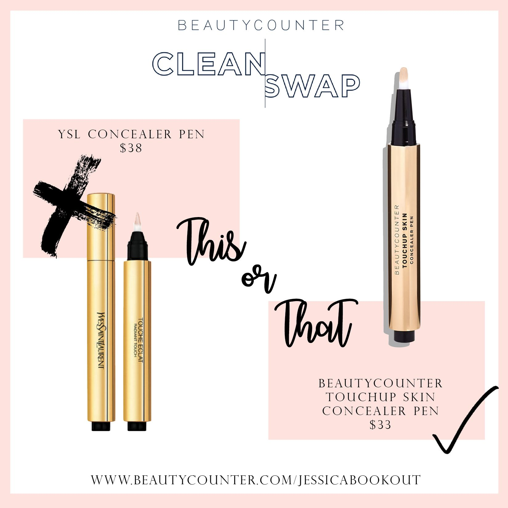 Beautycounter Touchup Skin Concealer Pen  Great for covering