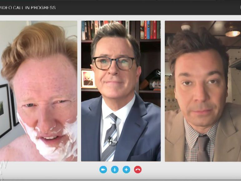Jimmy Fallon Stephen Colbert Conan O Brien Trolled Trump Stephen Colbert Jimmy Fallon Comedians