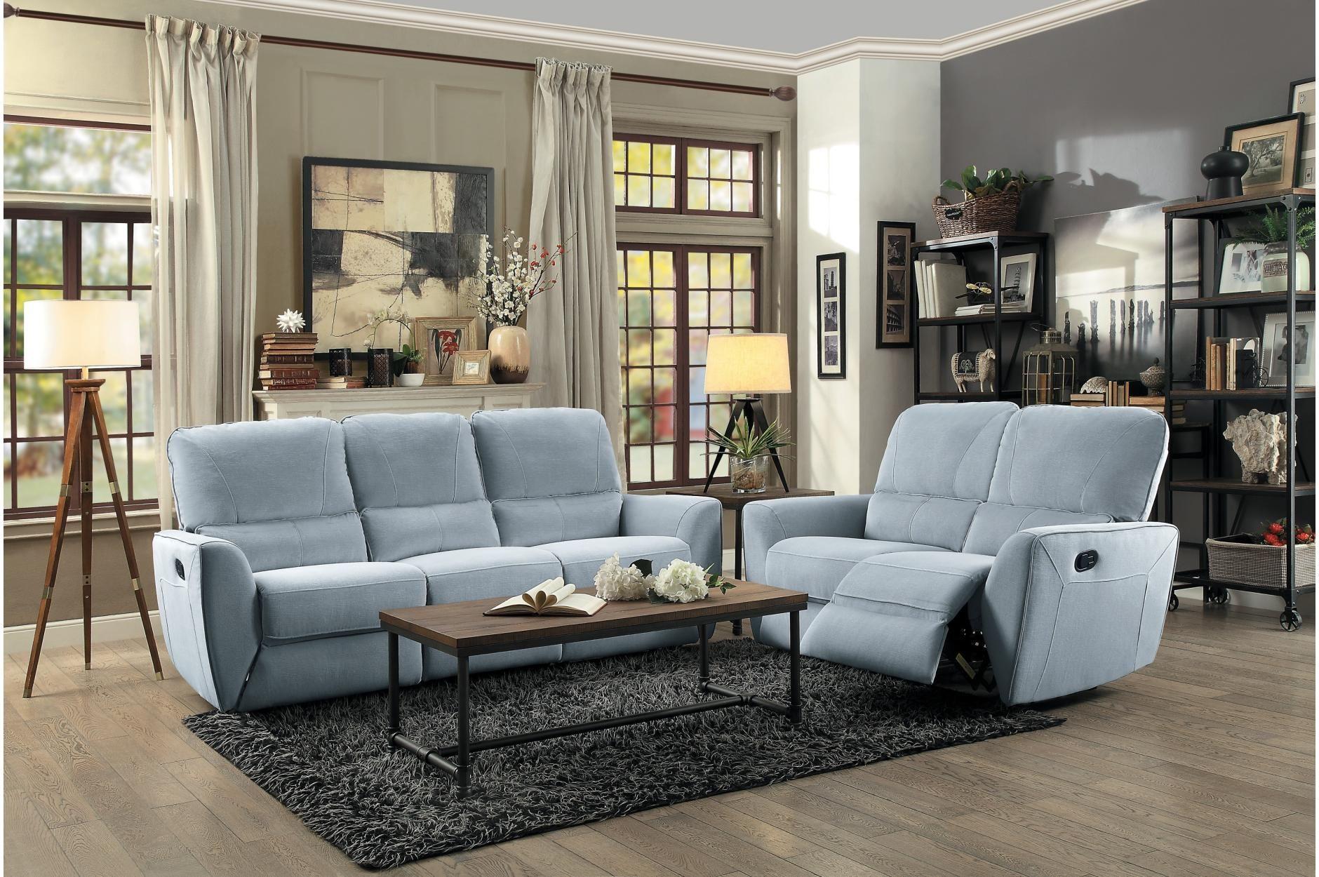 Fabric Upholstered Plush Cushioned Dual Recliner Sofa Casagear Sofa Homedecor Homelov Living Room Sets Living Room Leather Living Room Upholstery #suede #living #room #set