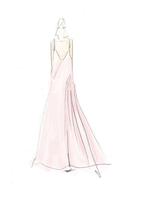 wes gordon fall 2014 fashion illustration fashion sketches Prom Dress 2014 Collection wes gordon fall 2014 fashion illustration