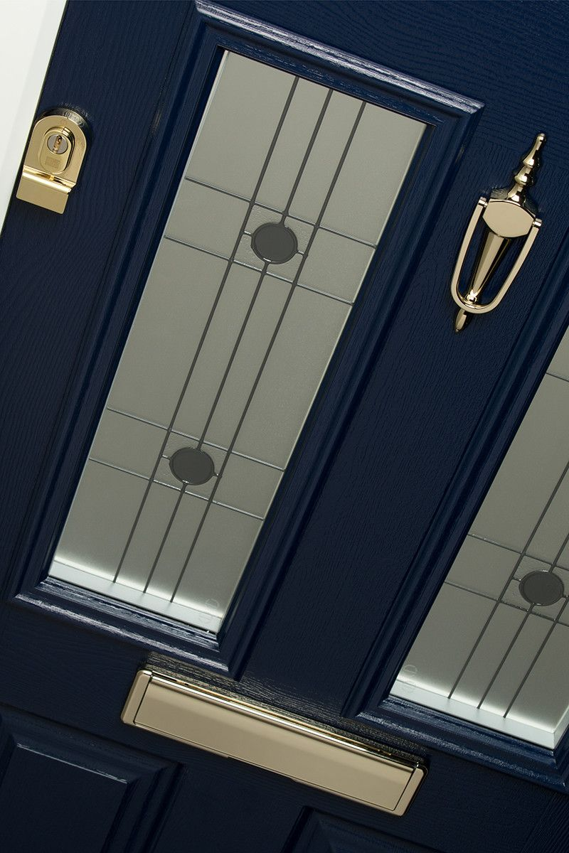Rocal composite doors - solid and secure! Elbrus door in French Navy with Harmony glass & Rocal composite doors - solid and secure! Elbrus door in French Navy ...