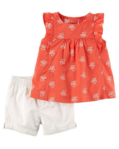 5c9d95eefae06 Moda primavera verano 2018 ropa para bebés. Carter s ropa para bebés  primavera verano 2018. Moda bebes 2018.