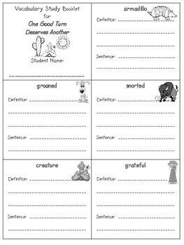2nd Grade Reading Street Unit 2 Vocab Booklets Freebie 2nd