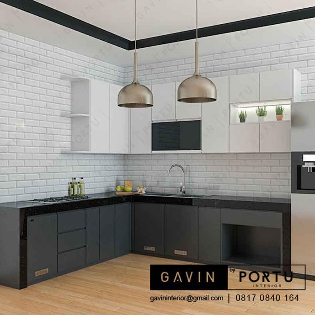 Kitchen Set Dengan Meja Makan Yang Ada Di Atas Juga Bisa Di Jadikan
