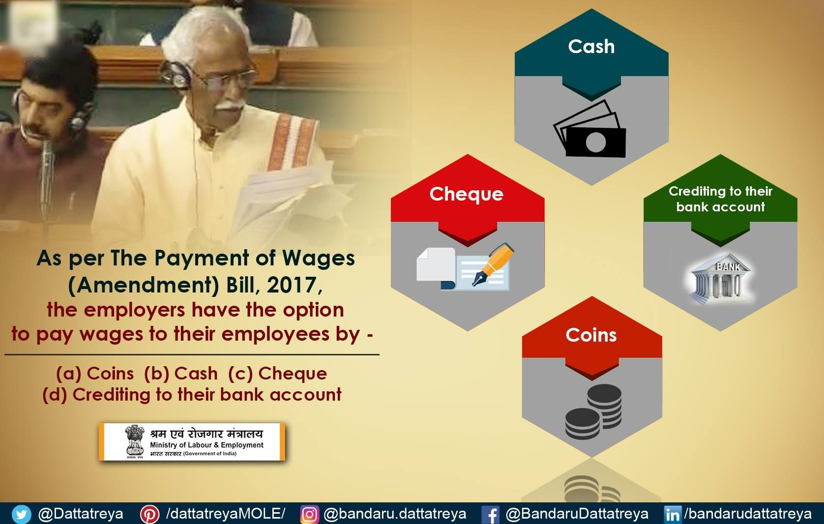 Workers Employed In The Unorganised Sector Will Benefit The Most From This Decision With Images Bank Account Employment Development