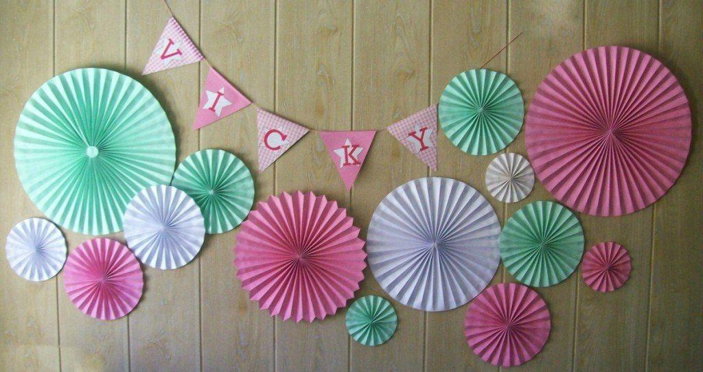 Como fazer leque de papel color set