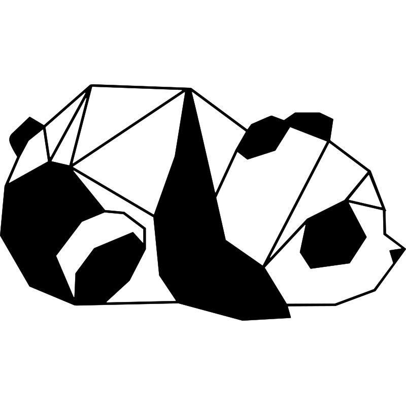 Panda Idee De Dessin De Panda Geometrique Vetements Bebe
