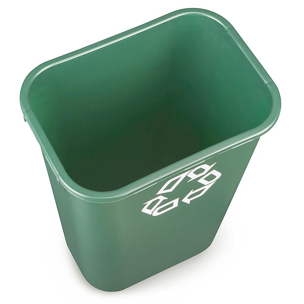 Rubbermaid Office Recycling Container 10 Gallon Green H 1859g Uline In 2020 Rubbermaid Recycling Containers Recycling