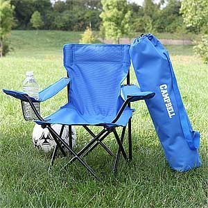 Toddler Personalized Blue Folding Camp Chair Camping Chairs