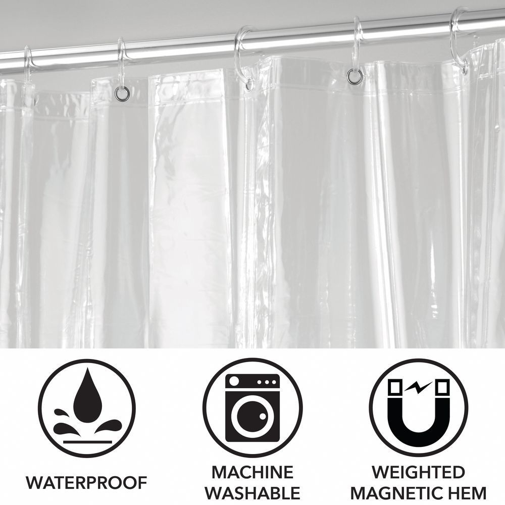 X Large Vinyl Shower Curtain Liner For Bath Varied Sizes Pack Of