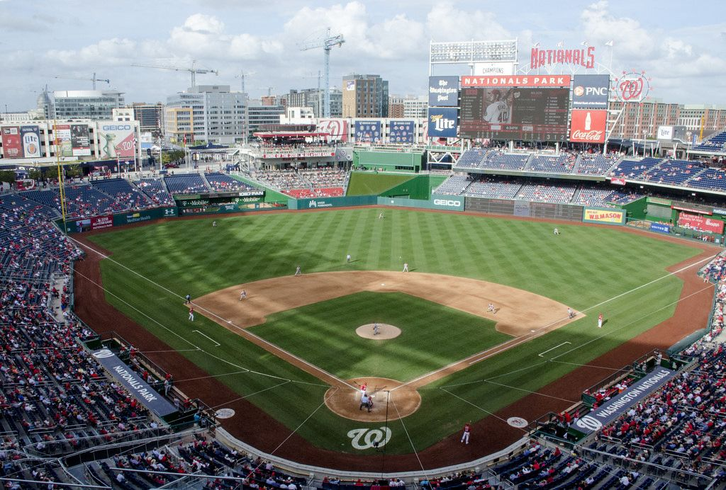 View From The Upper Deck At Nationals Park Home Of The Washington Nationals Nationals Park Mlb Stadiums Washington Nationals