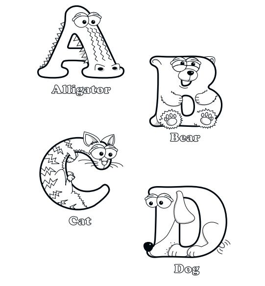 alphabet coloring pages | Education | Pinterest | Letras, Abecedario ...