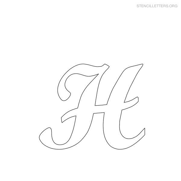 Free Printable Alphabet Stencils Stencil Letters H Printable Free