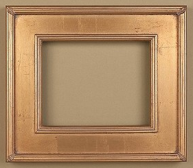 Largest And Probably The Nicest Of The Readymade Frames Frosted Gold Leaf With Ribbon Detail On The Corner This Wonderfu Plein Air Frame Frame Custom Framing