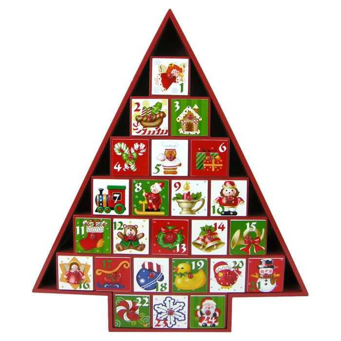 Tidings Advent Calendar Christmas Tree Advent Calendar Christmas Advent Calendar Wooden Advent Calendar