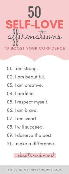 50 Self-Love Affirmations + Free Printables (PDF Workbook Included)