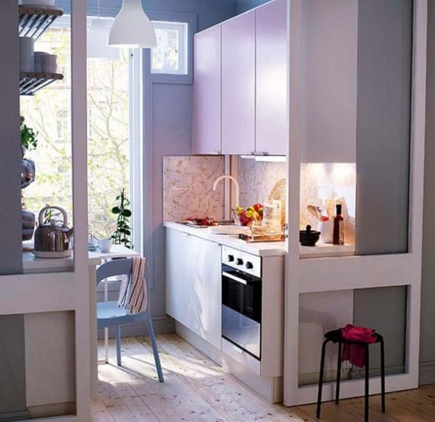 Beautiful Efficient Small Kitchens: 25 Space Saving Small Kitchens And Color Design Ideas For
