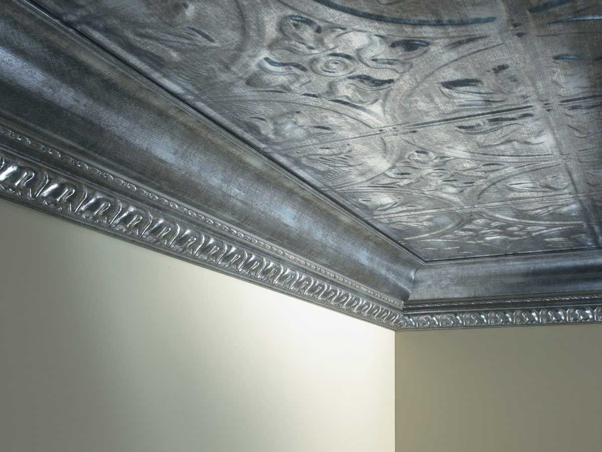 Tin ceiling metallic edging for the home pinterest ceiling faux tin ceiling tiles dailygadgetfo Gallery